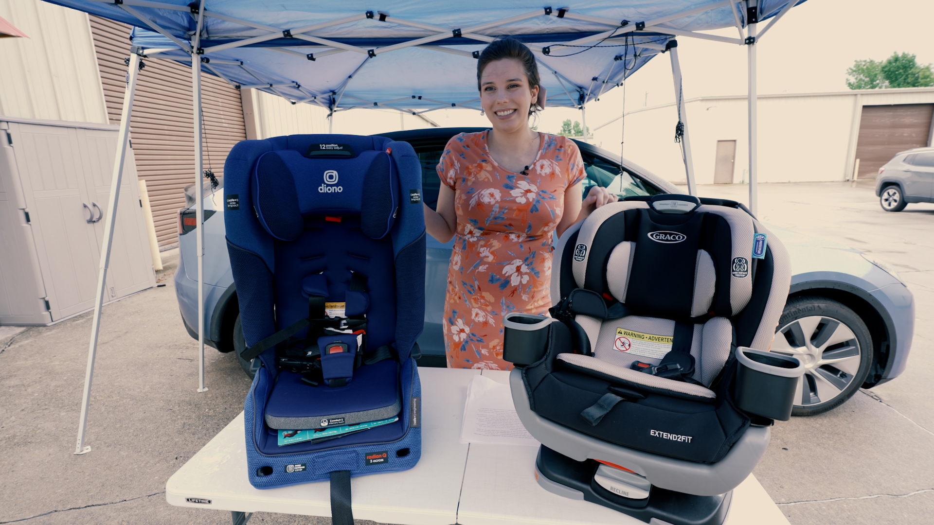 Model Y Car Seat Comparison: Diono Radian 3QXT v Graco Extend2Fit 3-in-1